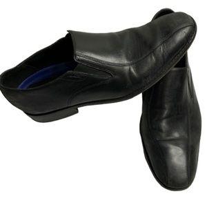 Bostonian black leather slip on dress shoes